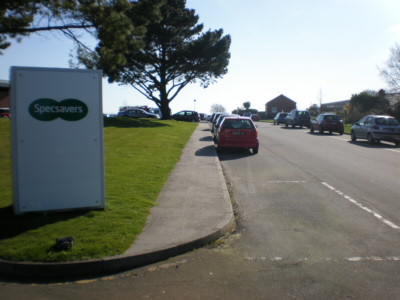 Guernsey Mole Excavating went under the Specsavers Car Park